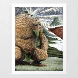 The Earth Golem Art Print