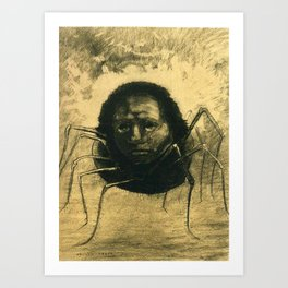 The Crying Spider by Odilon Redon Art Print