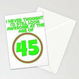 45th Birthday Gift Birthday present party Anniversaire child birth Stationery Cards