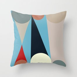 Mid Century Modern Vintage 15 Throw Pillow