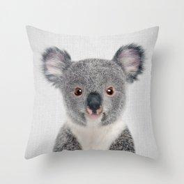 Baby Koala - Colorful Throw Pillow