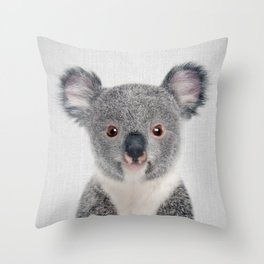 Baby Koala - Colorful Throw Pillow