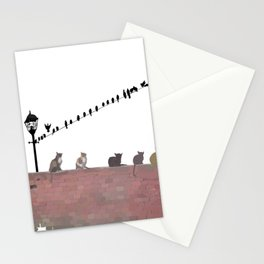 Cats and Birds Stationery Cards