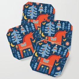 Scandivian Fairytale in Blue Coaster