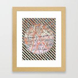 Flight of Color - blue line Framed Art Print