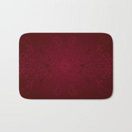 Red Leaf Mandala Bath Mat