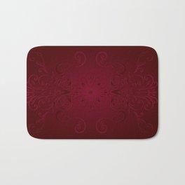 Red Leaf Mandala Bath Mat