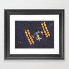ISS Framed Art Print