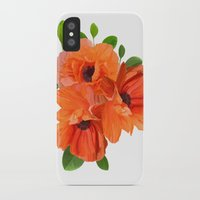 poppies iPhone & iPod Cases featuring Poppies by Heaven7