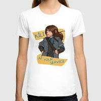 kili T-shirts featuring Kili at Your Service by Hattie Hedgehog