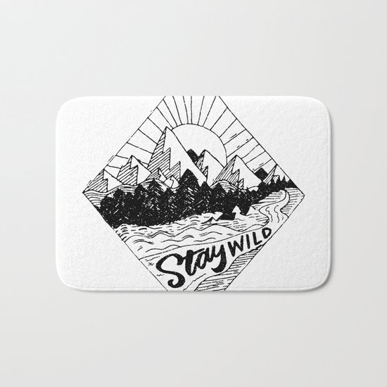Stay Wild Bath Mat