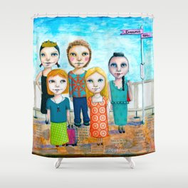 Get on Board by Kylie Fowler Shower Curtain