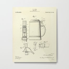Beer Stein-1914 Metal Print