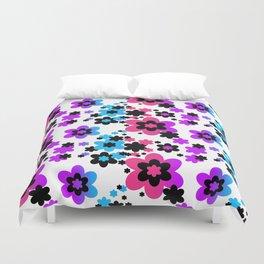 Rainbow Flowers Duvet Cover