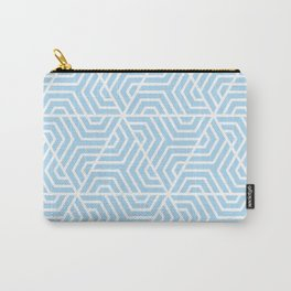 Uranian blue - heavenly - Geometric Seamless Triangles Pattern Carry-All Pouch