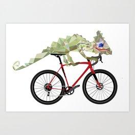 Cameleon ride Art Print