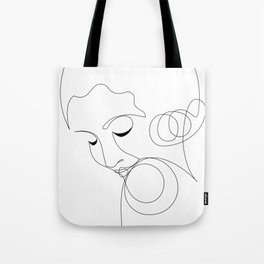 Coy flapper line art Tote Bag