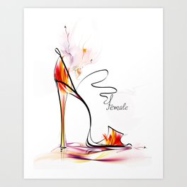 high heel Art Print