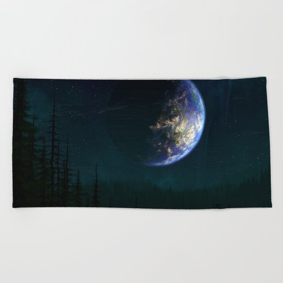 Out of this world #forest Beach Towel