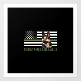 Military Working Dog Handler Art Print