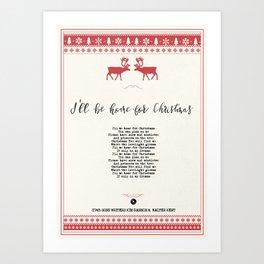 I´ll be home for Christmas Art Print