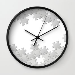 Puzzle white Wall Clock