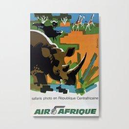 Air Afrique Vintage Travel Poster Metal Print