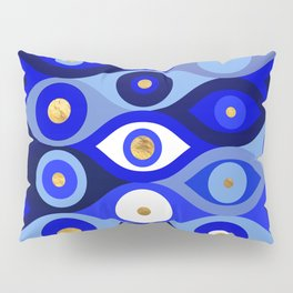 Greek Mati Mataki - Matiasma Evil Eye blues Pillow Sham