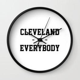 Cleveland Vs Everybody Wall Clock