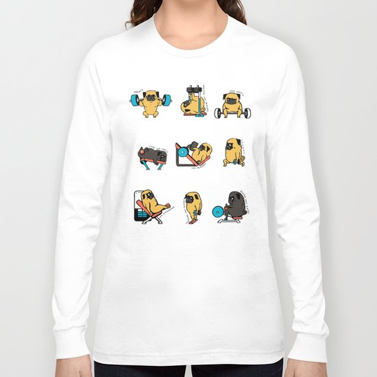 Leg Day with The Pug Long Sleeve T-shirt