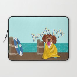 Cooper's Day at the beach Laptop Sleeve