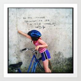 Change the World Graffiti Art Print