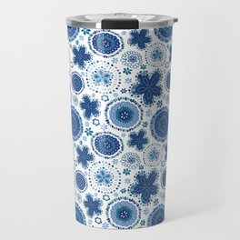 Organic Medallions - Blue Travel Mug