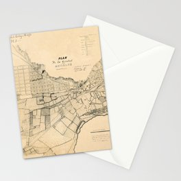 Map Of Los Angeles 1849 Stationery Cards