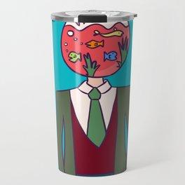 The Fishbowl Man Travel Mug