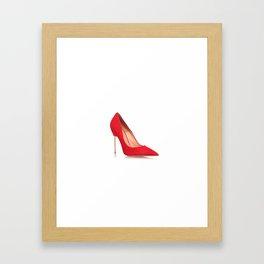 Red shoe Framed Art Print