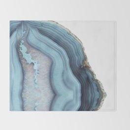 Light Blue Agate Throw Blanket