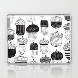 Doodle acorns autumn pattern Laptop & iPad Skin