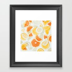 citrus fresh orange twist Framed Art Print