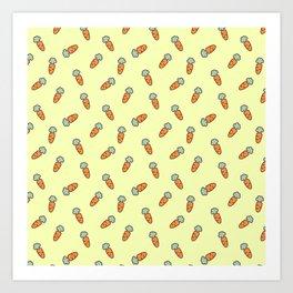 Carrot whimsical pattern Art Print