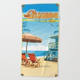 El Segundo Beach Beach Towel