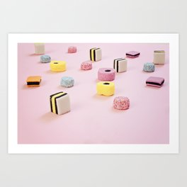 Abstract Colored Chewy Candies Art Print