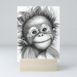Monkey - Baby Orang outan 2016 G-121 Mini Art Print