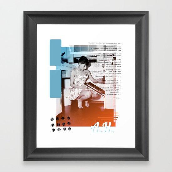 A.H. Collage Framed Art Print