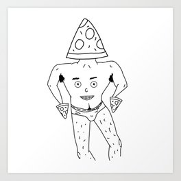 PIZZA PAPI (EYES OF THE CHEST 2) Art Print