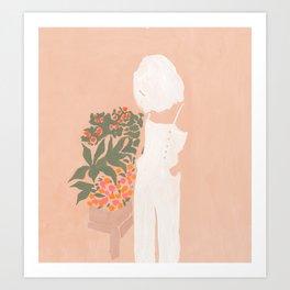 Flower Shoppe Girl Art Print