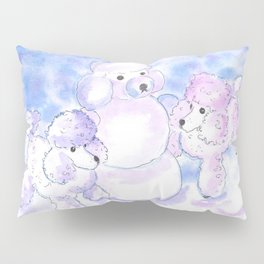 Poodles in Snow Pillow Sham