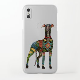 greyhound ivory Clear iPhone Case