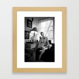 Striped Jacket Framed Art Print