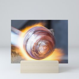 Blowing Glass Mini Art Print
